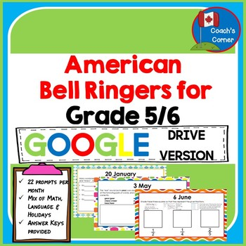 American Bell Ringers for Grade 5/6:  Google Drive Edition