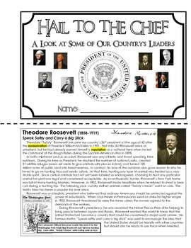 American Biographies - Hail to the Chief (Presidents Unit