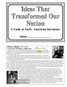 American Biographies - Inventors (Unit Booklet)