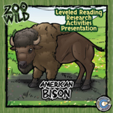 American Bison - 15 Zoo Wild Resources - Leveled Reading, Slides & Activities