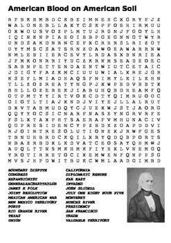 American Blood on American Soil Word Search