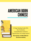 American Born Chinese Reading Guide With Image Support for ELs