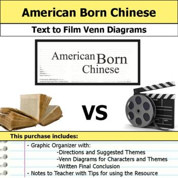 American Born Chinese - Text to Film Venn Diagram & Written Conclusion