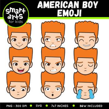 American Boy Emoji Clip Art