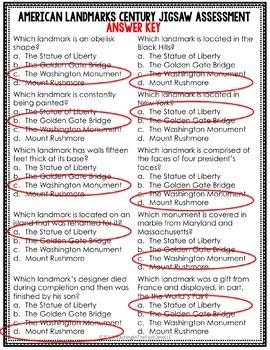 American Citizenship: Landmarks Jigsaw {U.S. History}
