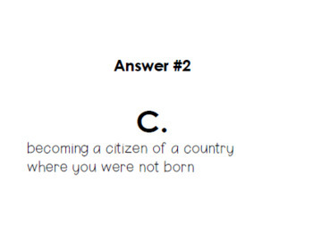 American Citizenship ~ Task Cards