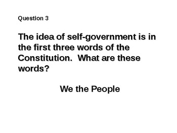 American Citizenship Test (21 questions)
