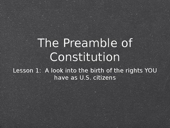 American Civics Unit Lesson 1