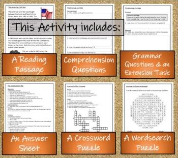 American Civil War - 3rd & 4th Grade Close Reading Activity