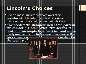 American Civil War - Abraham Lincoln's Cabinet