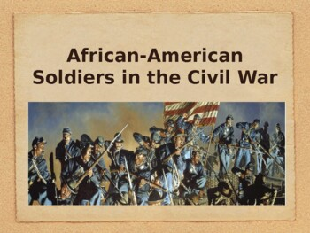 American Civil War - African-American Soldiers in the Civil War