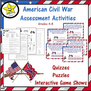 American Civil War Assessment Activities