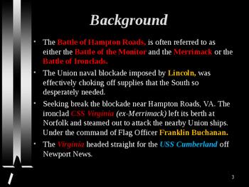 American Civil War - Battle of Hampton Roads