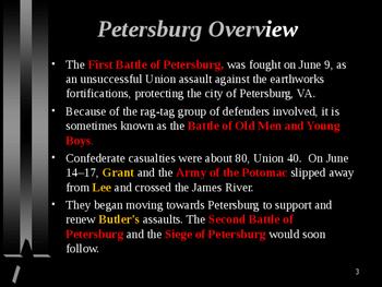 American Civil War - First Battle of Petersburg