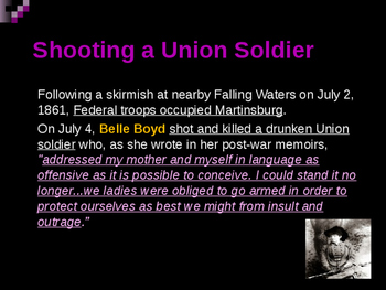 American Civil War - Key Leaders - Confederate - Belle Boyd