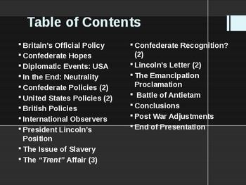 American Civil War - British Alliances in the Civil War