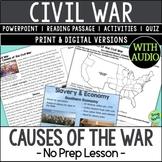 Causes of the Civil War, US Civil War Causes