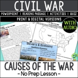 Causes of the Civil War, US Civil War Causes; Distance Learning