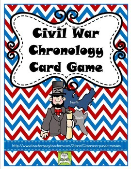 Civil War Chronology Card Game