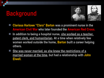 American Civil War - Key Leaders - Union - Clara Barton