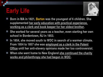 American Civil War - Key Leaders - Union - Clara Barton