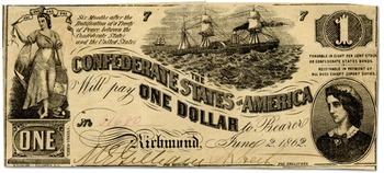 American Civil War Classroom Currency