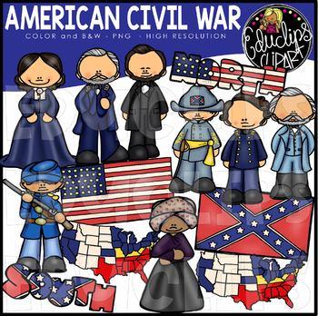 American Civil War Clip Art Bundle {Educlips Clipart}