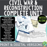 American Civil War Curriculum, US Civil War, Reconstruction Era