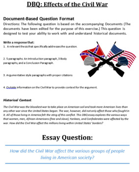 American Civil War DBQ