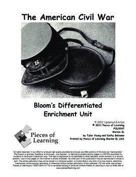 American Civil War - Differentiated Blooms Enrichment Unit