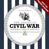 Civil War Informal Debate Activity—Fun for Preview or Review