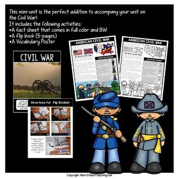 Civil War: A Mini-Unit & American Civil War Flip Book