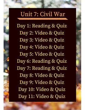 American Civil War Flipped Learning