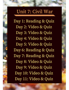 American Civil War Flipped Learning