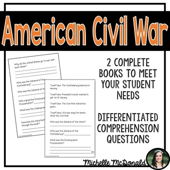 American Civil War Informational Mini Books