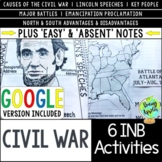 American Civil War Interactive Notebook Activities, US Civ