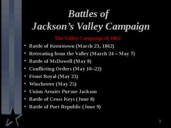 American Civil War - Jackson's Valley Campaign