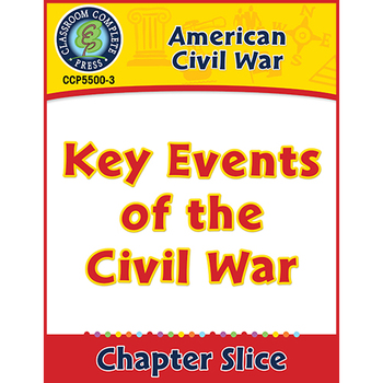 American Civil War: Key Events of the Civil War Gr. 5-8