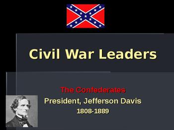 American Civil War - Key Leaders - Confederate - Jefferson Davis