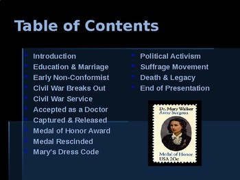 American Civil War - Key Leaders - Union - Dr. Mary Walker