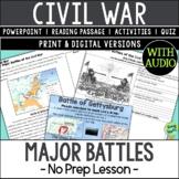 Major Battles of the Civil War; Distance Learning; Digital