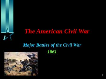American Civil War - Major Battles of 1861