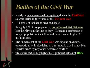 American Civil War - Major Battles of 1865