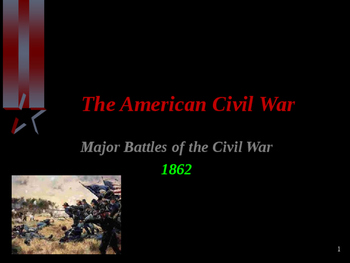 American Civil War - Major Battles of 1862