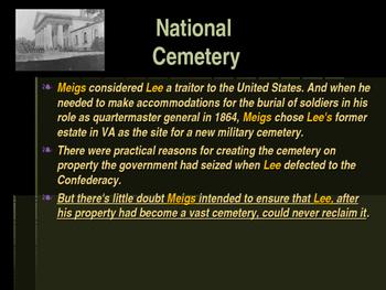 Arlington National Cemetery - Montgomery Meigs Creator of Arlington Cemetery