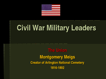 Arlington National Cemetery - Montgomery Meigs Creator of