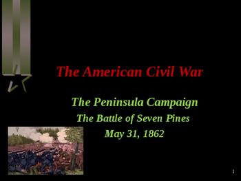 American Civil War - Battle of Seven Pines
