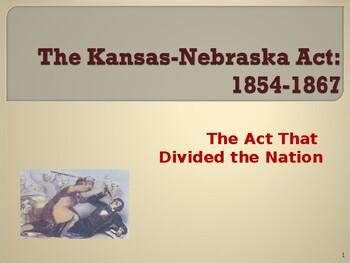 who wrote kansas nebraska act