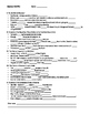 American Civil War PowerPoint Guided Notes Sheet