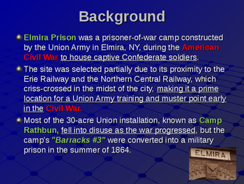 American Civil War - Prisons - Elmira